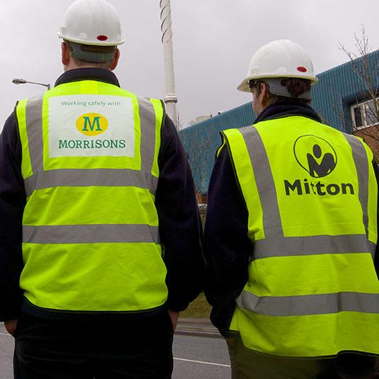 Mitton & Morrisons Workmen side by side