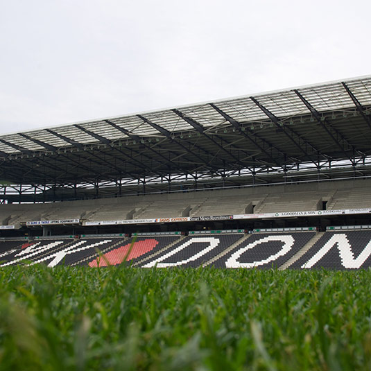 MK Dons Footbal Stadium from the pitch