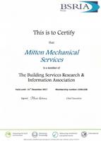 BSRIA Certificate