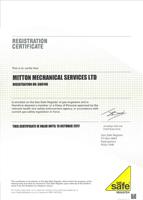 Gas Safe certificate