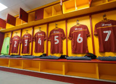 Bradford City Home strip in players dressing room