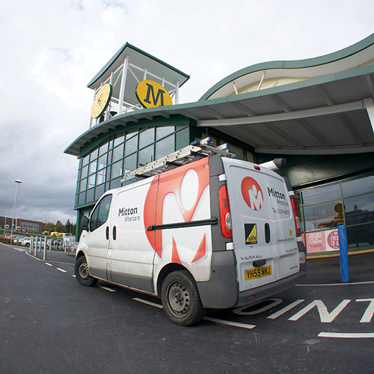 Mitton Aftercare Van At Morrisons store front