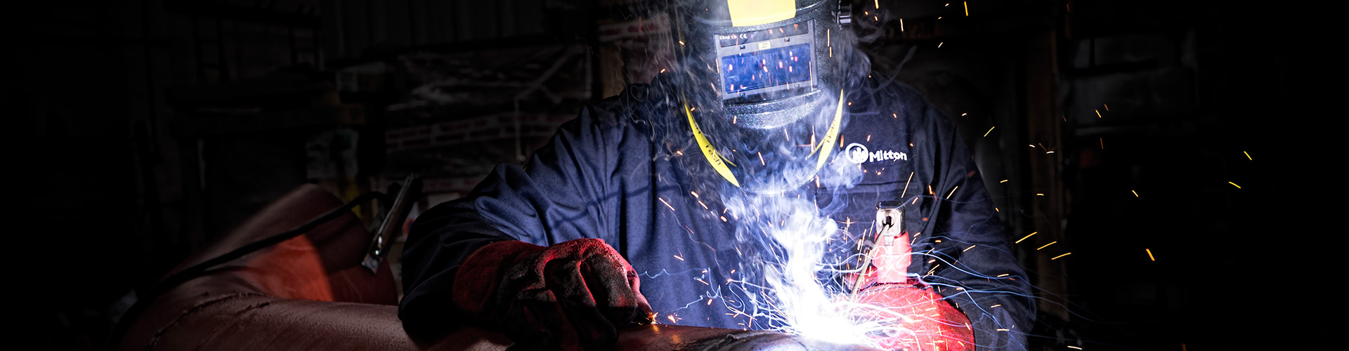 One of Mittons Contracting Division Welders