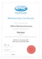 APHC Certificate