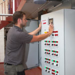 Engineer at a control panel