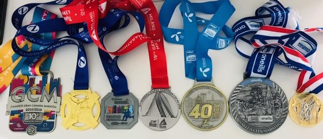Gerry's Marathon Medals